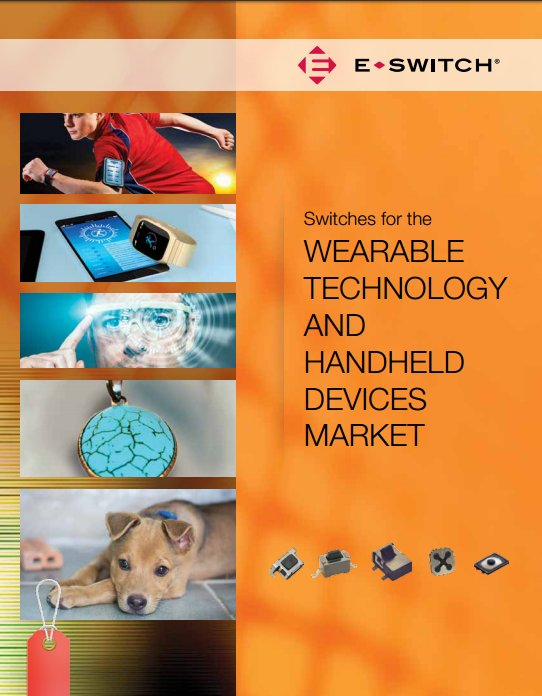 Wearables brochure cover